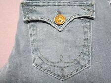 TRUE RELIGION WOMENS RAEGAN FLARE LEG BOOTCUT FIT GRAY BLUE JEANS SIZE 26 NEW