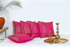 Indian Mandala Pillow Cushion Cover Silk Brocade Sofa Couch Throw Home Decor