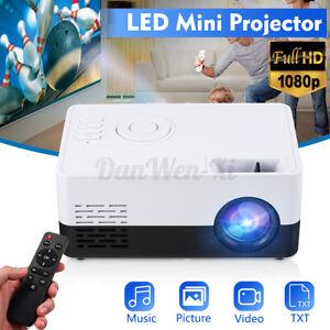 Portable Mini LED HD 4:3 1080P Projector Home Theater Cinema Video USB AV HDMI