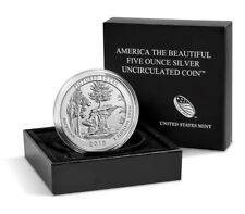 2018 P Pictured Rocks Natioanl Lakeshore Michigan Five Ounce Silver Coin ATB