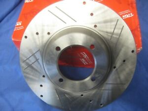 TRIUMPH TR6  DRILLED AND GROOVED BRAKE DISCS PAIR TRIUMPH TR4 TR4A TR5 TR6