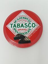 Tabasco - Spicy Dark Chocolate Wedges - Round Tin - 50g  Exp: 10/2018 NEW SEALED