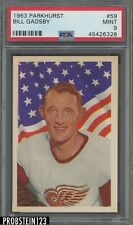 1963 Parkhurst Hockey #59 Bill Gadsby Red Wings PSA 9 MINT