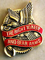 😎😎 2nd Amendment Right to Keep and Bear Arms Pin  Hat,lapel,shirt,etc Made USA