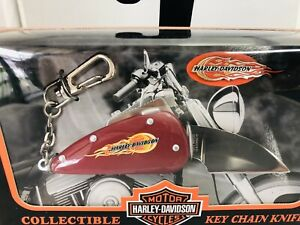 Harley Davidson Collectible Key Chain Knife and Pin New Officially Liscensed