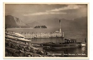 OLD POSTCARD LAGO MAGGIORE STRESA BORROMEE ISOLA BELLA LIGHTHOUSE RELATED