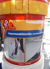 "Impermeabilizante Antigoteras Sikafill-50 rojo 20 kg rojo. ""caucho"" cubiertas"