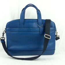COACH F54801 HAMILTON LEATHER BRIEFCASE COMPUTER BAG IN DENIM F54801 NWT $450