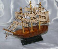 Vascello modellino Royal Navy in legno tre alberi barca a vela nautica nave