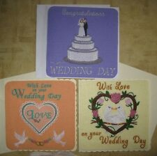 Wedding Day / Anniversary embroidered cards, made to order & can be personalised
