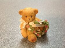 2003 Enesco Cherished Teddies Sparkling Hearts Birthstone Bear #111888 April