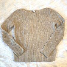 Womens Xs Gap Oatmeal Knit Boat Neck Long Sleeve Sweater