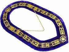 Cryptic Mason Royal & Select Master Chain Masonic Collar PURPLE Backing