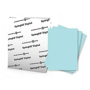 """Springhill 8.5"""" x 14"""" Blue Copy Paper 24lb Bond/60lb Text 89gsm 500 Sheets 1 ..."""