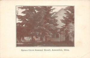 H66/ Annandale Minnesota Postcard c1910 Spruce Grove Summer Resort 111