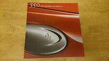 Ferrari 550 Barchetta Pininfarina Brochure