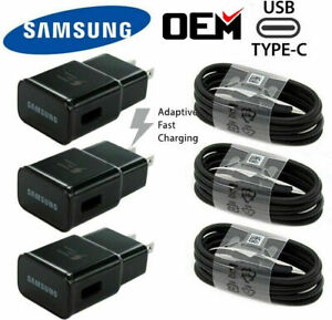 Fast Car Wall Charger Type-C USB-C Cable For Samsung Galaxy S8 S9 S10 Note8 Plus