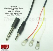 """MFJ-5166, CABLE, PADDLE TO KEYER CABLE WITH LUGS 3.5MM, With 1/4"""" ADAPTOR"""
