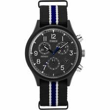 Reloj Timex Hombre Reloj MK1 Supernova Chrono correa de tela Dial Negro TW2T10900
