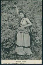 Ethnic South Pacific Samoa island Nude woman big nipples old 1910s postcard