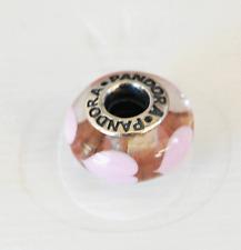 """Genuine Pandora Murano Glass Bead """"pink Heart"""" 790660 - retired"""