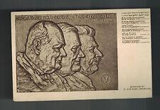 1945 Tel Aviv Palestine Postcard Cover Hebrew Stalin Roosevelt Churchill Sculptu