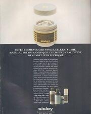 ▬► PUBLICITE ADVERTISING AD SISLEY crème solaire peau 1994