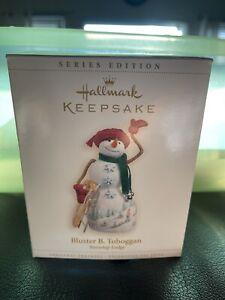 Hallmark 2006  Ornament  Bluster B Toboggan Snowtop Lodge - NEW
