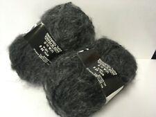 5 pelotes de laine  mohair couleur anthracite /  fabriqué en France