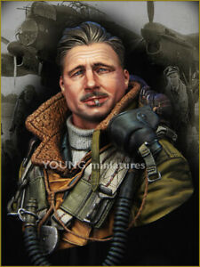 young miniatures raf bomber command  resin  bust kit model  ym1850