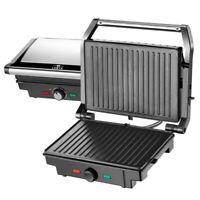 Lentz Kontaktgrill 1600 Watt Elektrogrill Tischgrillfunktion Grill Toaster Maker