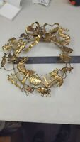 Vintage Dresden Holiday Wreath Approx 8""