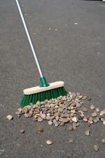 "11.5"" Sweeping Brush Heavy Duty Stiff Outdoor Yard Broom & Metal Handle"