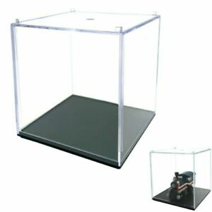 Acrylic Display Cube Perspex Trophy Display Case Transparent 5 Sided Box
