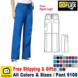 WonderWink Scrubs FLEX Women's Multi Pocket Elastic Waist Pant 5108 Regular