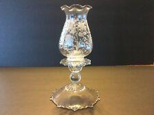 Elegant Glass Cambridge Wildflower Hurricane Lamp #1617