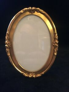 Gilt Dore Bronze French Antique Oval Photo Picture Frame