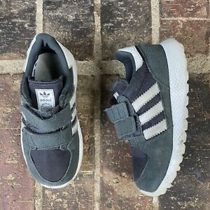 Adidas Originals Gray White Forest Grove CG6806 Toddler Sneaker Casual Shoes 7K