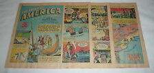 1942 six page cartoon story ~ STORY OF AMERICA Discovery+Exploration 1000-1700