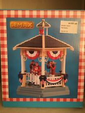 Lemax Summer Americana 2018 Carnival Park Gazebo Band #83365 Table Accent New