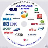 2017 2018 Repair Restore Computer Drivers DVD  Windows 7 8 XP Vista 10 32 64 bit