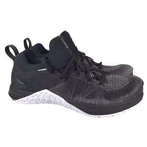 Nike Metcon Flyknit 3 Cross Training Shoe Black White AQ8022-001 Mens Size 8