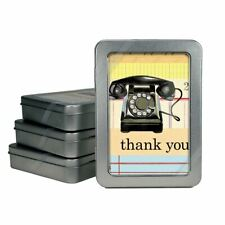 Cavallini - Thank You Cards - Vintage Telephone - Tin Of 10 Cards & Envelopes
