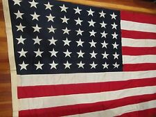 WW2 ERA USA 48 STAR FLAG VALLEY FORGE FLAG CO 8-1/2 FT x 5 FT COFFIN SIZE CLEAN
