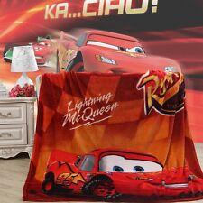"Disney Pixar Cars Lightning McQueen Plush Soft Flannel Blanket Throw 60"" X 80"""