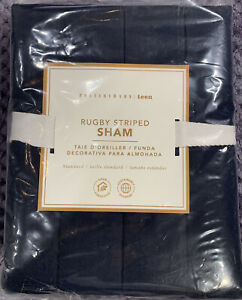 Pottery Barn Teen Rugby Stripe Sham, Standard, Navy/Red, Free Shipping!