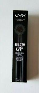 NYX Professional Build'Em UP Powder Brow Filler Makeup ~BUB08 Black~ 0.04 oz NEW