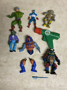 Vintage 1980s Marvel Captain America TMNT Assorted Mixed Toy Lot
