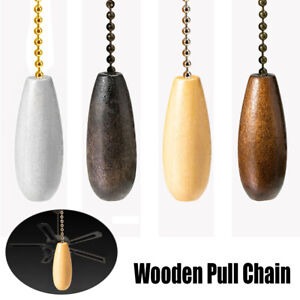Ceiling Fan Chain Pulls Wooden Pull Chain Extension Pull Chain for Ceiling Light