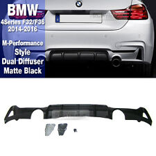 M Performance Style Rear Dual Diffuser Cover For BMW 2014-2016 4 Series F32 F36